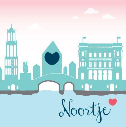 Geboortekaartje Noortje (Utrecht) #geboortekaartje #skyline