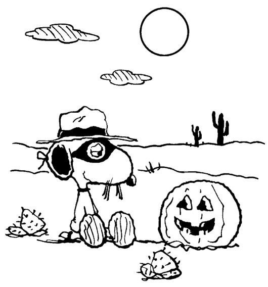 365 best color halloween children teens images on for Snoopy halloween coloring pages