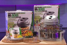 The Big Boss Oil-less Fryer is a tri-technology cooker that uses halogen lights, convection and infrared heat to brown, roast and crisp your favorite...