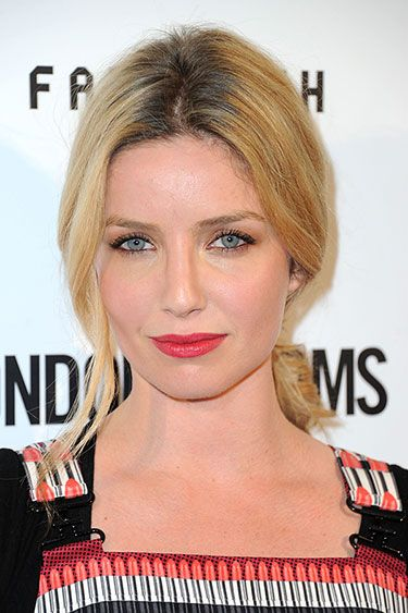 The 10 Chicest Ponytails for Fall 2013 - Annabelle Wallis: Soft and Low