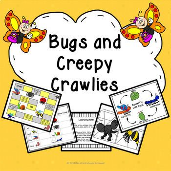 Fun bugs and creepy crawlies investigation and activity unit.