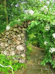 log wall gardens - Google Search