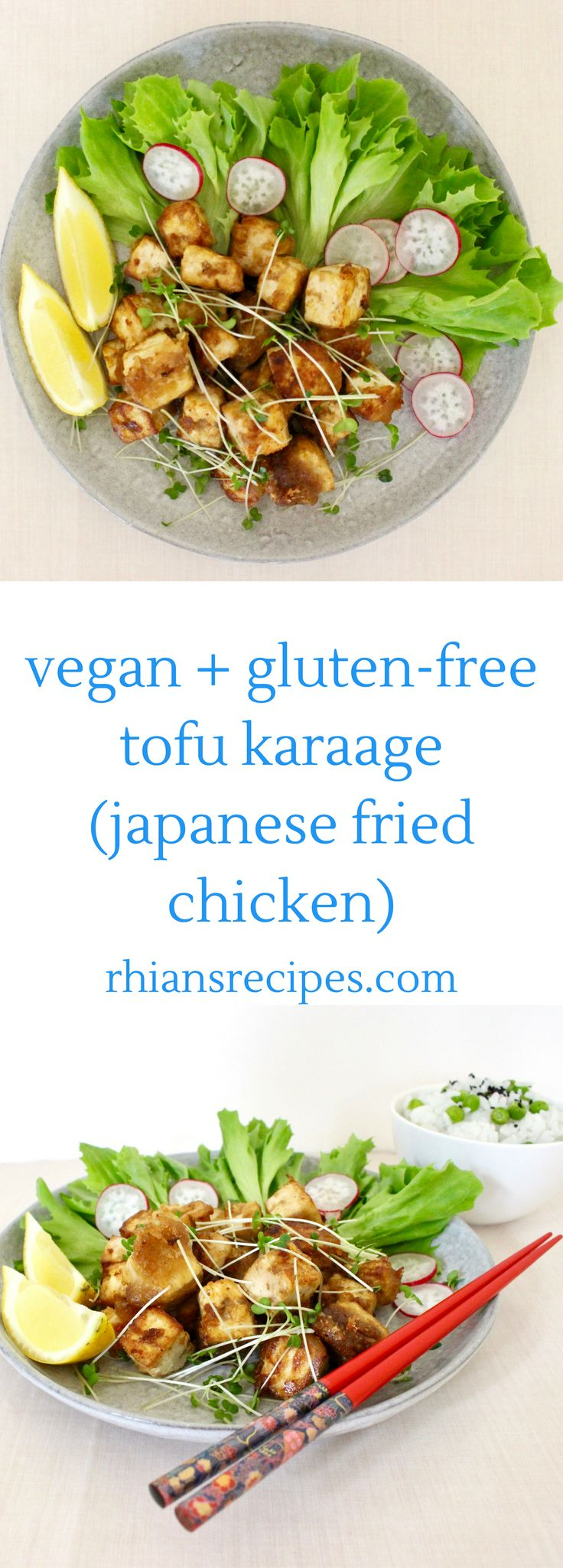 A healthier twist on Japanese fried chicken, this Gluten-Free Vegan Tofu Karaage makes the perfect quick and easy weeknight dinner!