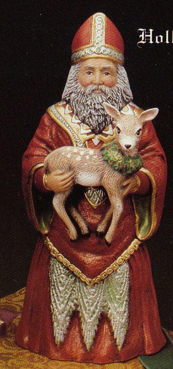 Old World Holland Santa Collectible Santa santa by TSoriginals