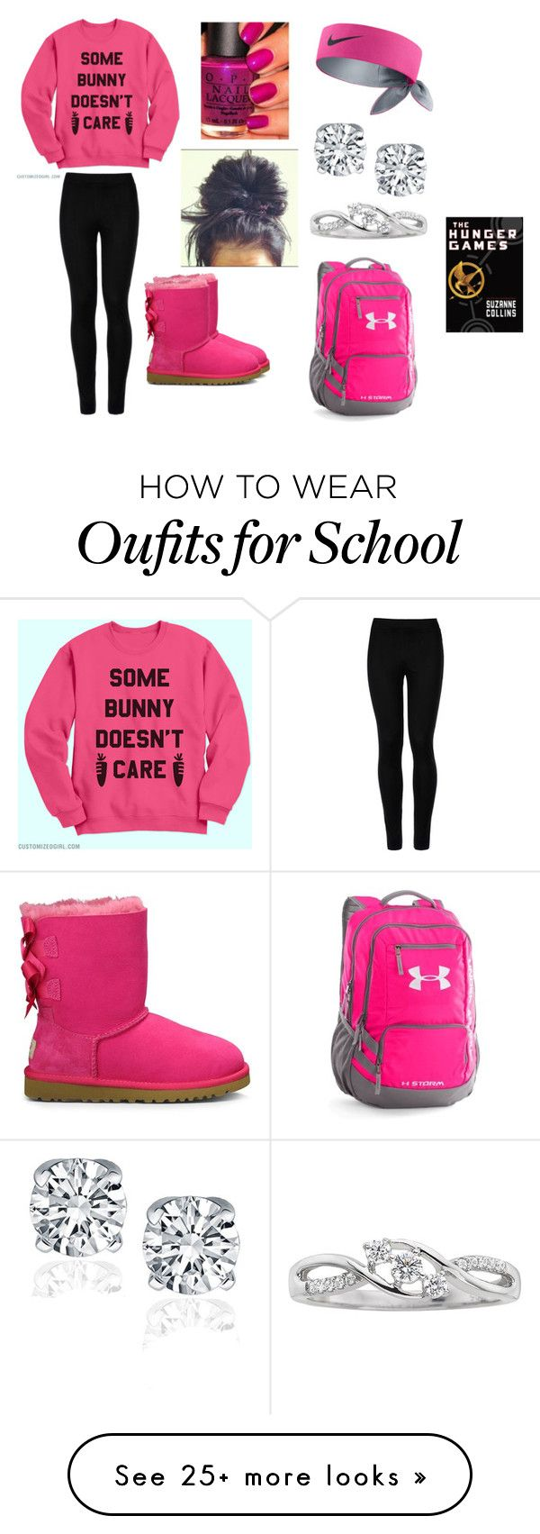 """School"" by tealzebra36 on Polyvore featuring Wolford, UGG Australia, OPI, NIKE and Under Armour"