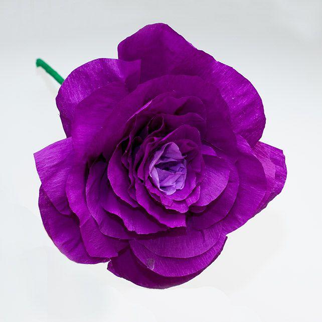 Как сделать гигантский бумажный цветок