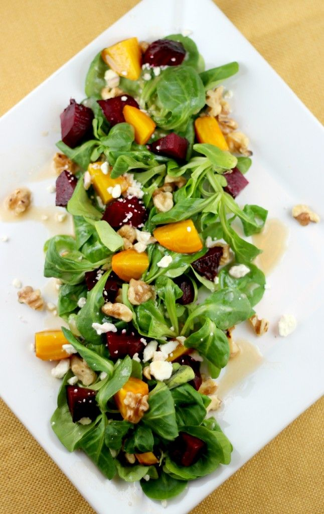 Roasted Beet Salad with Feta and Toasted Walnuts