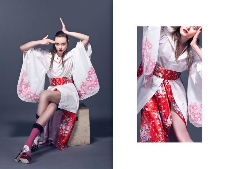 MyFirstStyling | FashionStyling of KhrystynaVisconti | Stylist | I love MyWork | MiuMiu | Kimono | Geisha | MoodFood | Fashion Editorial | Model Olivia Nowakowska