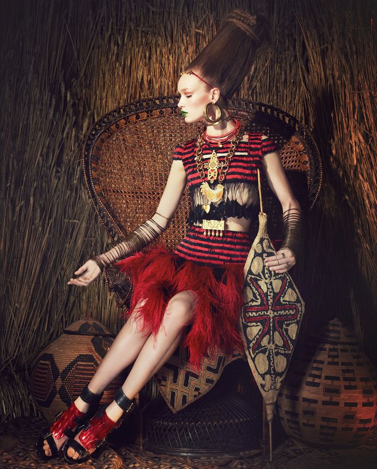 tribal fashion: charlotte kay by damian foxe for how to spend it 4th june 2014