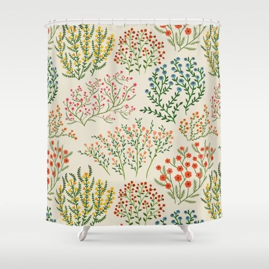 Buy Shower Curtains featuring Meadow 2 by A.Vogler. Made
