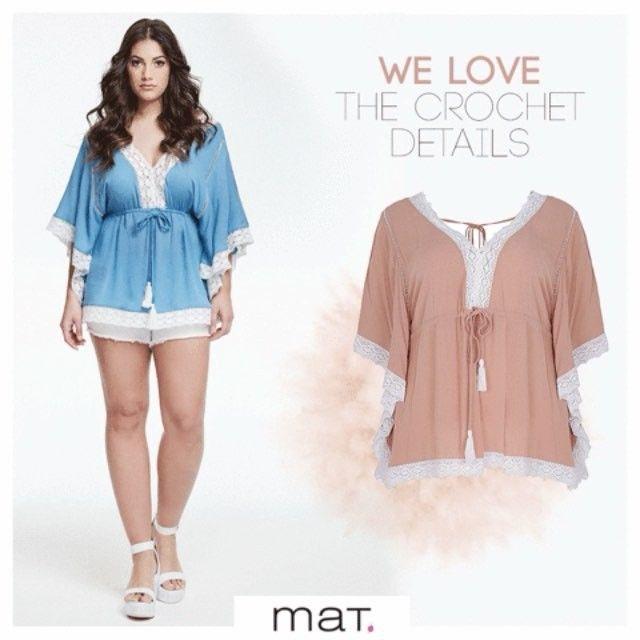 Crochet λεπτομέρειες σε θηλυκές αποχρώσεις! Συνδύασε αυτή την αέρινη ethnic chic μπλούζα με λευκό τζιν σορτς και θα φέρεις το καλοκαίρι στο στυλ σου!  Ανακάλυψε την μπλούζα ➲ code: 675.1045 Ανακάλυψε το σορτς ➲ code:673.2032 #matfashion #realsize #ootd #style #instafashion #psblogger #plussize