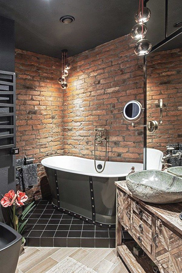 50 Beautiful Industrial Bathroom Decor Plans To Complete Your Home