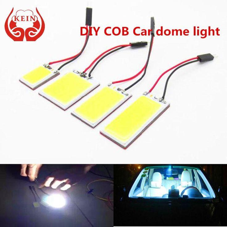 KEIN (R) C3W C10W C5W W5W T10 BA9S COB LED interior del coche fuente de luz de alta junta de coche modificado lámpara de lectura de bóveda del coche luz