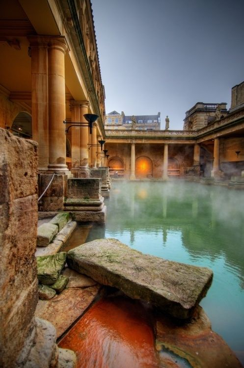 Roman Baths, Bath, England. Heaven!