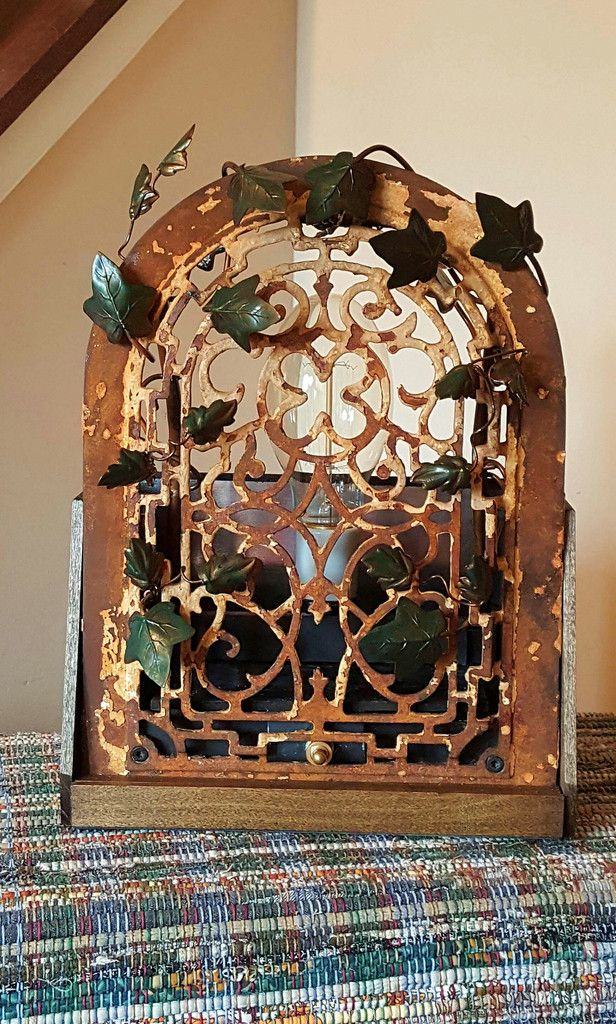 Glow of History - repurposed antique cast iron heating grate vintage lighting handmade metalwork & 132 best Jack Riley Lighting images on Pinterest | Jack riley ... azcodes.com