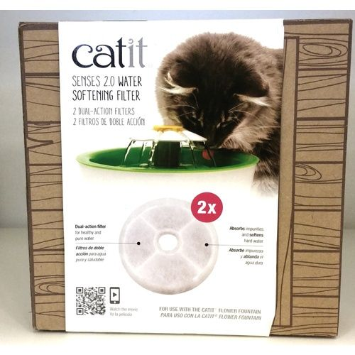 CATIT 2.0 WATER SOFTENING ION CARBON FILTERS - 2 PACK