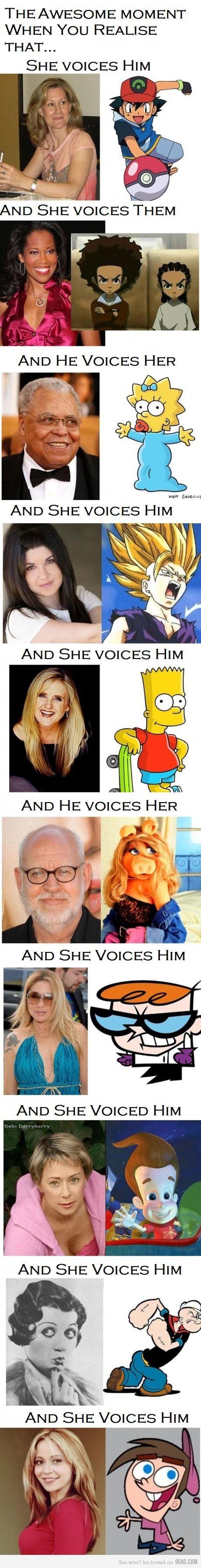 Opposite Sex Voice Actors
