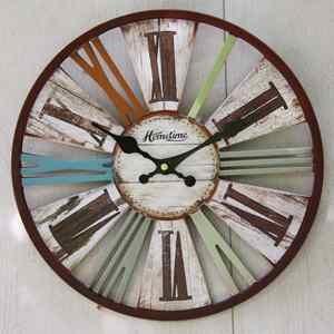 9 best horloges et pendules images on pinterest pendulum clock gift ideas and clock for Horloge murale multicolore