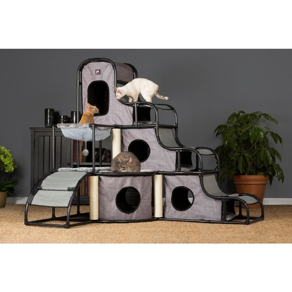 Prevue Pet Products 7240 Grey Catville Tower