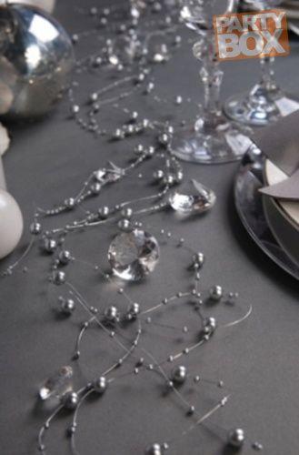 Girlanda dekoracyjna - srebrna