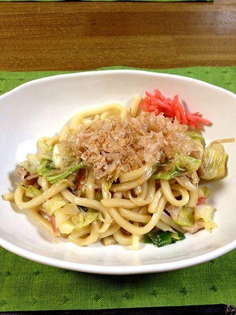 なんだか疲れたので、簡単晩ご飯になりました(´・_・`) - 62件のもぐもぐ - 焼うどん by ayuzato