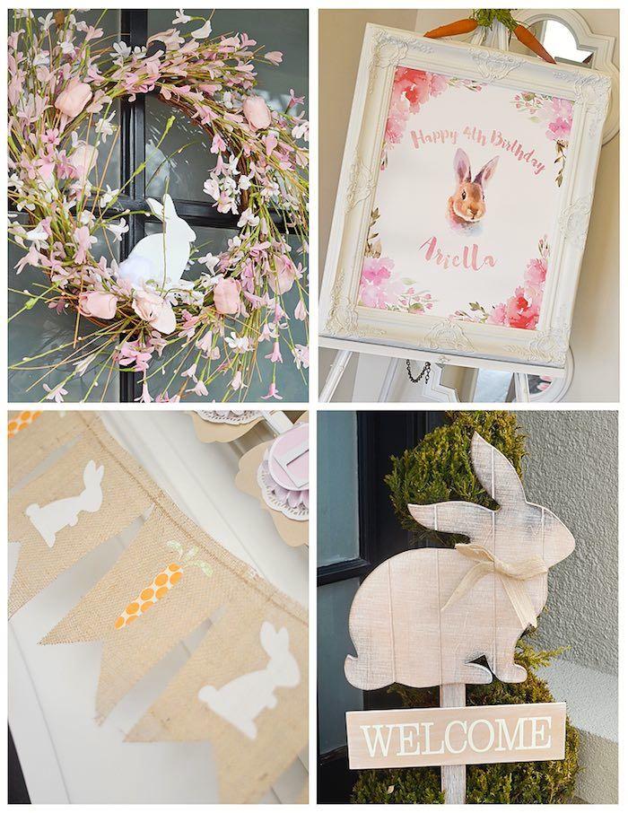 Decor from a Bunny Birthday Party via Kara's Party Ideas | KarasPartyIdeas.com (8)