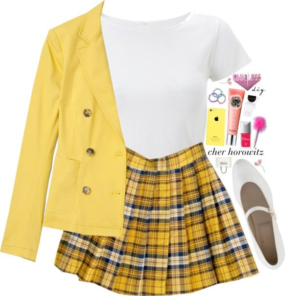 """I am so clueless (halloween diy)"" by theofficialpretties ❤ liked on Polyvore"