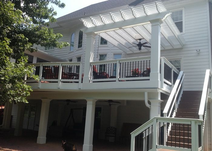 Beautiful Screened Porch Deck And Pergola Addition Deck