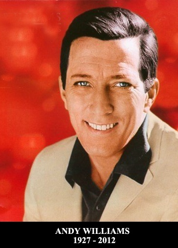 "Howard Andrew ""Andy"" Williams  was an American singer who recorded eighteen Gold- and three Platinum albums. He hosted The Andy Williams Show, a TV variety show, from 1962 to 1971, as well as numerous television specials, and owned the Moon River Theatre in Branson, Missouri, named after the song ""Moon River"", with which he is closely identified. His 1st wife was Claudia Cardinale  1927-2012"