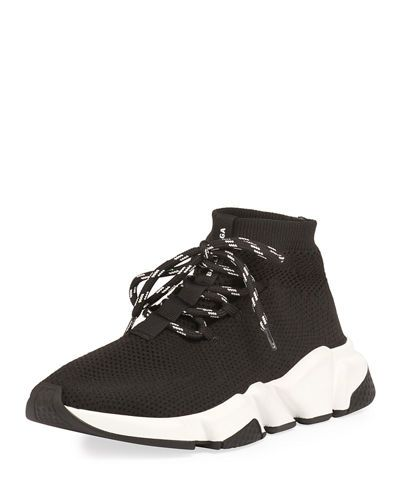 Balenciaga Speed Lace Up Knit Trainer With Images Speed Laces