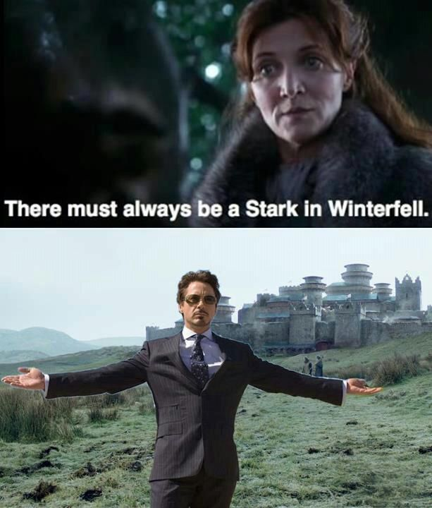 Joffrey: I have an army. Tony: We have direwolves. Joffrey: But I killed a bunch of them! Tony: You're missing the point. There's no throne, no version of this where you come out on top. Now maybe your army comes and maybe it's too much for us, but its all on you. Because if we can't protect Westeros, we can damn sure avenge it. | and that's the story of how Joffrey was defeated. By Iron Man.