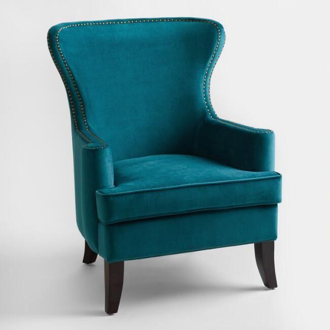 Pacific Blue Elliott Wingback Chair - v1