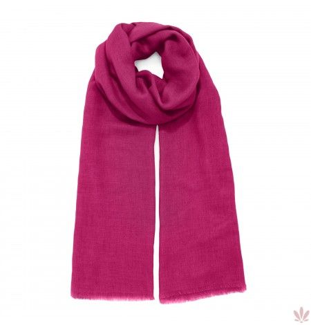 Super Soft Fuxia Scarf Wool, Cashmere, Rayon & Modal Blend. Luxury high quality, made in Italy by Fulards free shipping.