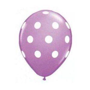 $5.09 for 12 purple polka dot ballons
