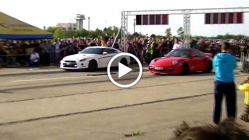 Nissan GT-R VS Porsche 911 Turbo  https://www.youtube.com/watch?v=gLtiWZErEJ4