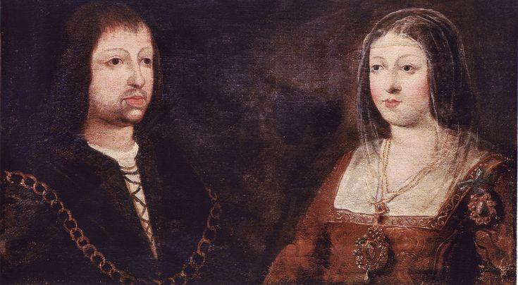 Estos son los reyes católicos Isabel y Fernando.