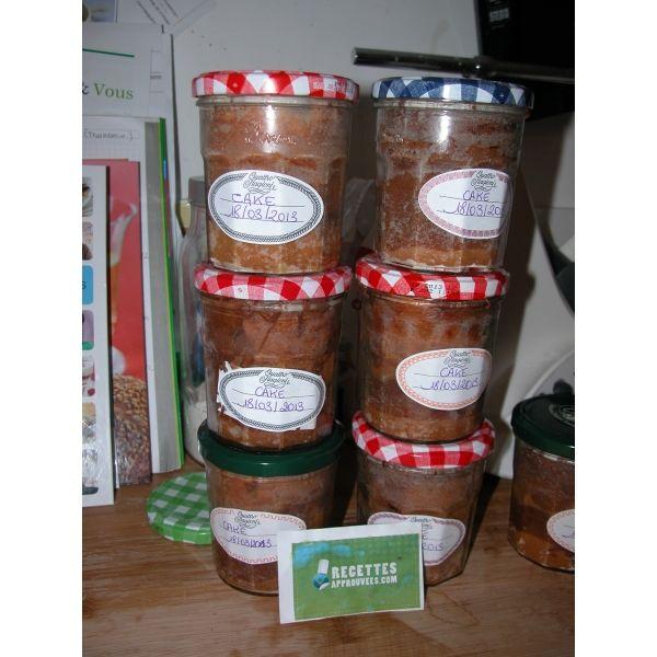 Cakes en bocaux (cake zèbre au banania) thermomix ou pas - par Severine M.