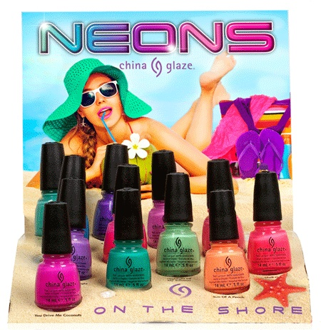 12 Days of Round-Up: Upcoming Collections in 2013 by The Polish Well: China Glaze Neons: On The Shore Collection { NEON JELLIES!!! }