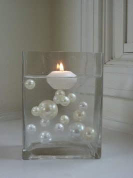 Floating pearls for wedding centerpieces