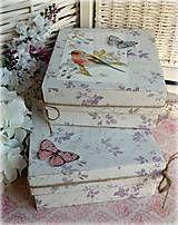 Krabičky - Lila darčekové obaly - 5089704_