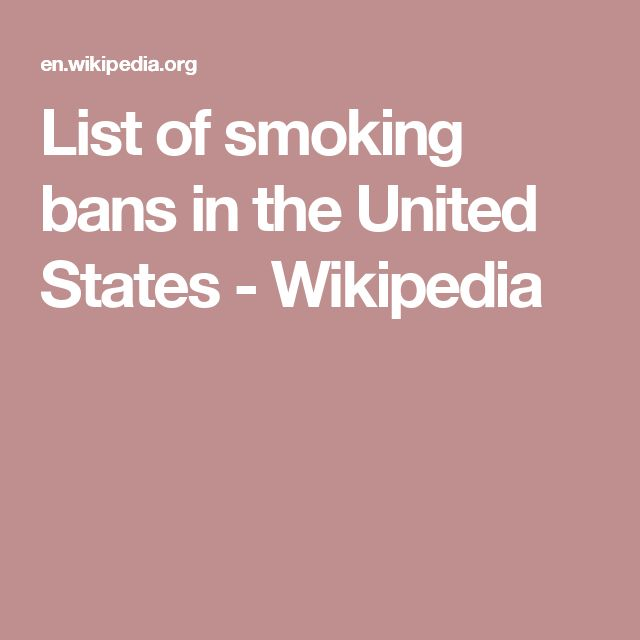List of smoking bans in the United States - Wikipedia