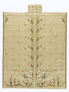 Waistcoat, Uncut (France), 1780–95
