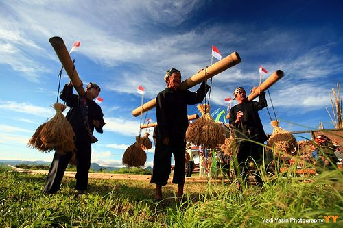 Seren Taun Festivals in Kuningan, West Java, Indonesia, a thanksgiving feast to mark the end of the harvesting season.