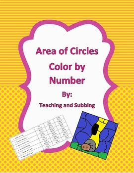 This product is a piece from my Color by Number bundle. This activity has students find the area of a circle when given the radius or diameter. Students then match their answer to the corresponding color in order to color the provided picture.