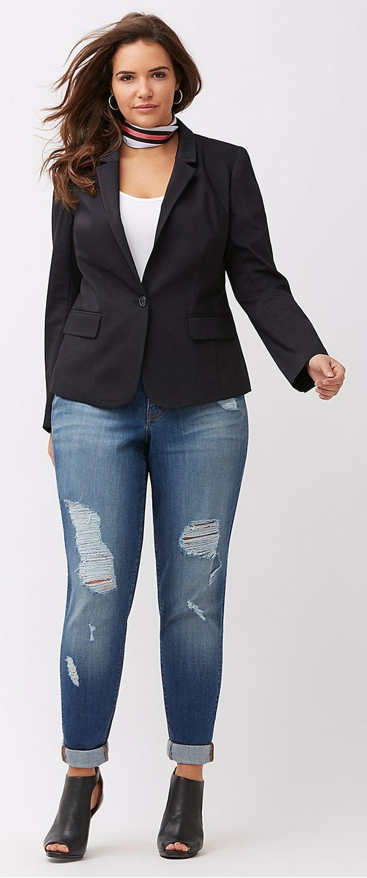 Plus Size Modern Blazer