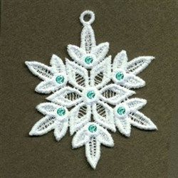 Leafy Snowflake embroidery design from embroiderydesigns.com