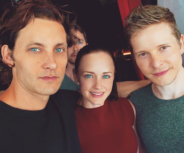 Pin for Later: The Gilmore Girls Cast Has Been Busy Posting Pictures From Behind the Scenes  Tanc Sade, who plays Finn, got Logan and Rory shippers excited when he posted this photo alongside Alexis Bledel and Matt Czuchry on set.