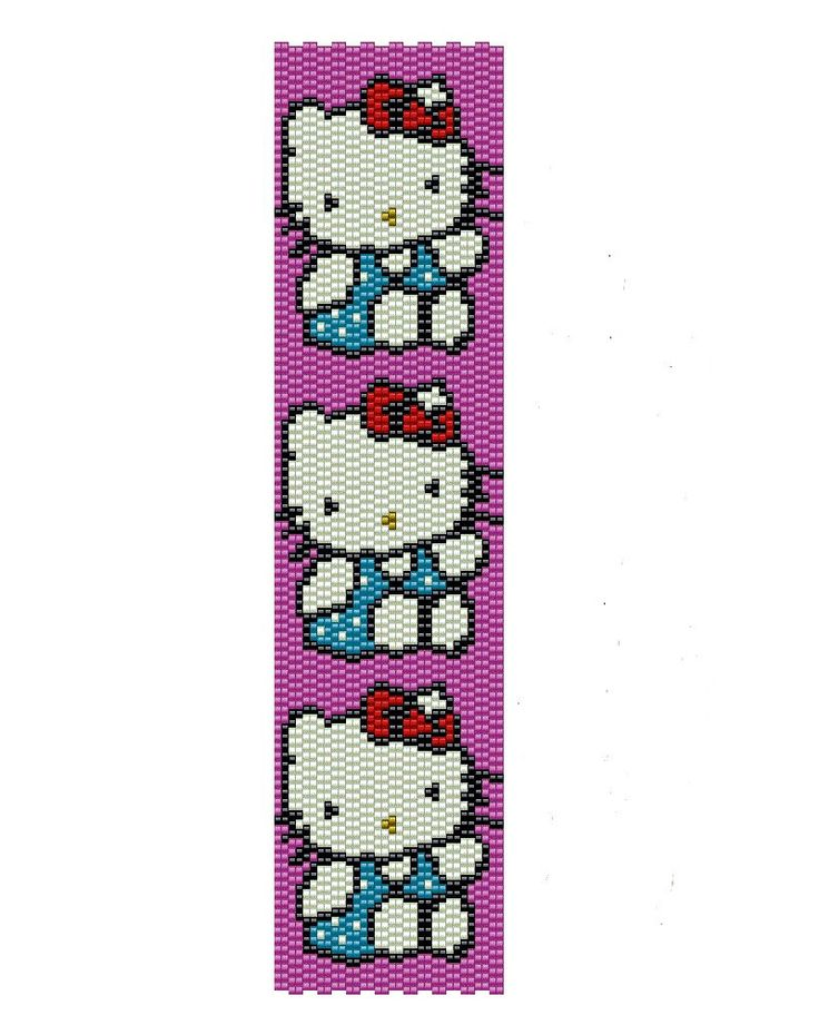 Hello Kitty peyote pattern -seed beads peyote cuff pattern (Buy 2 patterns, Get 1 Free). $3.50, via Etsy.