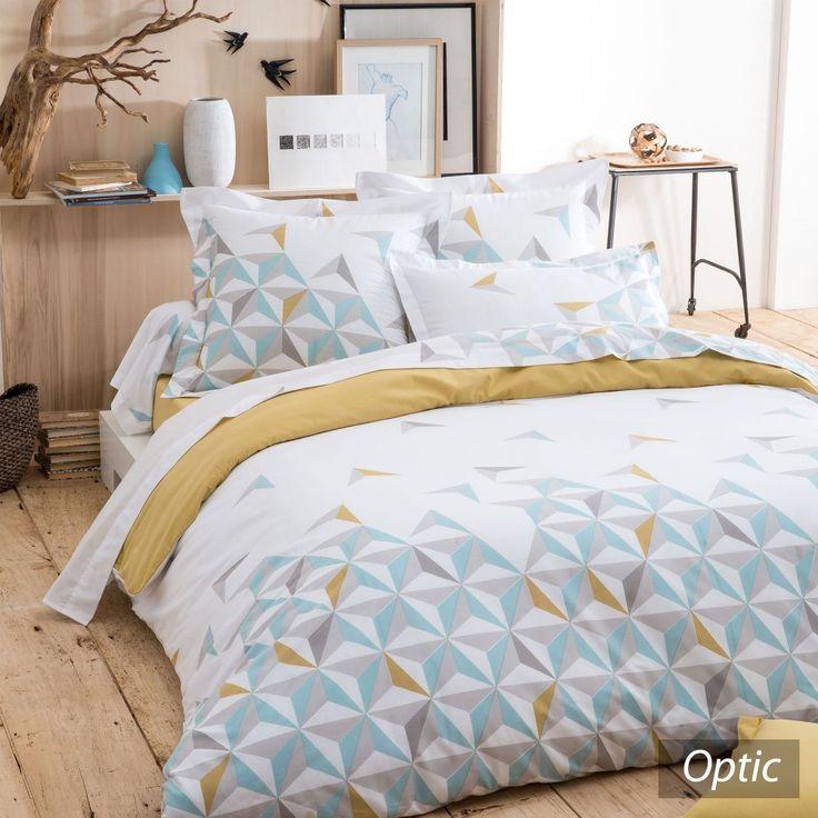 Parure de lit 240x220 cm - OPTIC   Linnea vente de linge de maison