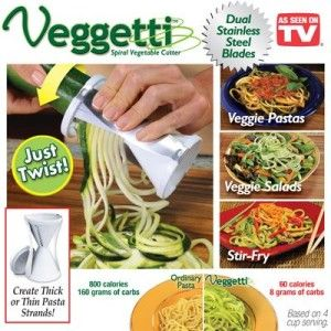 Veggetti Spiral Vegetable Pasta Cutter - Veggie Pasta Maker #veggetti #asseenontv